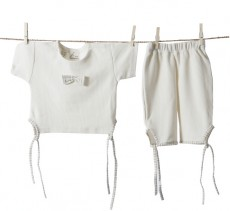 Organic Girl's Bow Set