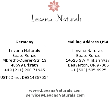Levana Naturals Contact Legal